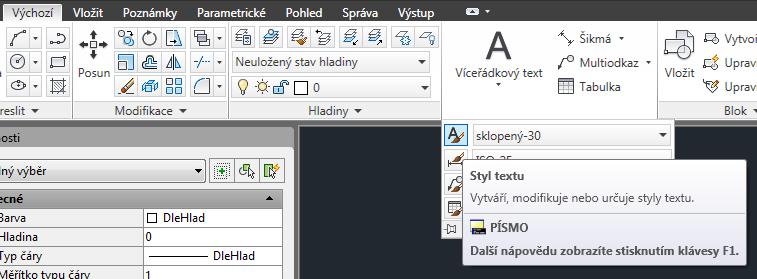 Tip pro AutoCAD: Jak nastavit uživatelsky definovaný styl textu