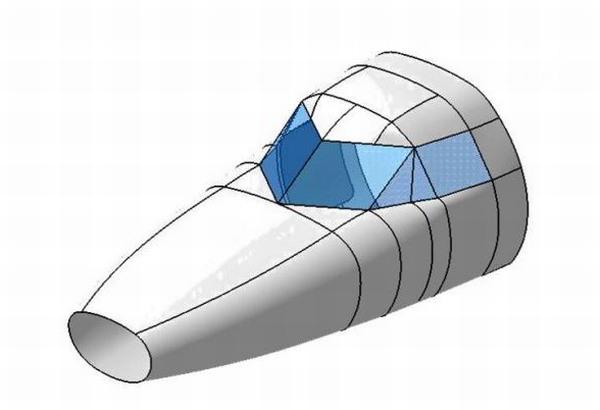 Prodloužení nosové části trupu z důvodu zvětšení předních zavazadlových prostorů