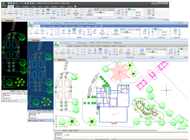 Systém ZwCAD+ nahradil dřívější ZwCAD, vycházející z technologií IntelliCADu. Zdroj: ZwSoft
