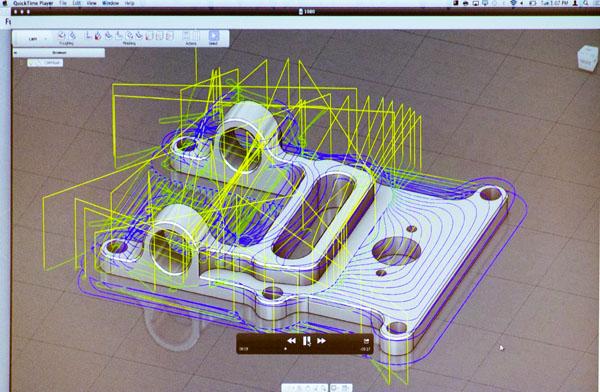 Simulace obrábění v on-line prostředí aplikace Fusion 360. Foto: Jan Homola