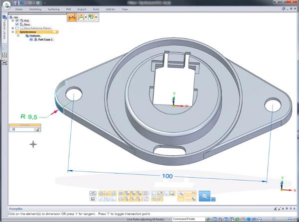 Pracovní prostředí aplikace 3Dsync pro úpravu importovaných CAD dílů a menších sestav. Foto: Siemens