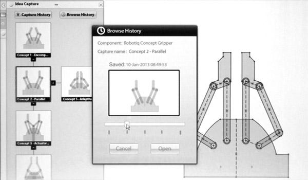 Tvorba pohyblivých skic v aplikaci Mechanical Conceptual. Foto: Jan Homola