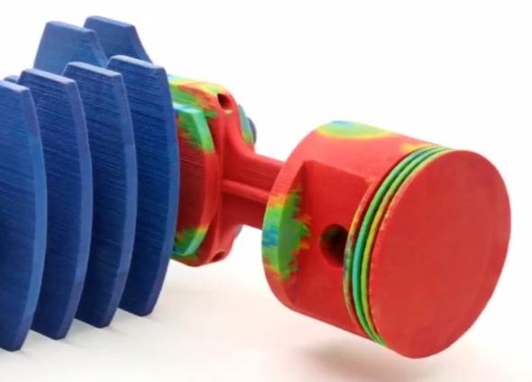 Typickou pevnostní analýzou je zjišťování, jaké napětí a posunutí vznikne vmateriálu součásti a jak se součást zdeformuje.