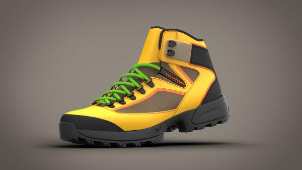 Vizualizace boty navržené v softwaru Delcam ShoeMaker Pro. Zdroj: Delcam