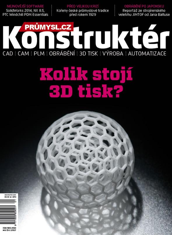 Titulní strana časopisu Konstruktér 2013/1