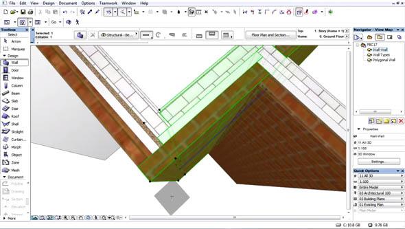 """Funkce """"Priority Based Connections"""" v ArchiCADu 17 pomůže automatizovat uspořádání materiálů ve stycích konstrukcí. Zdroj: Graphisoft"""