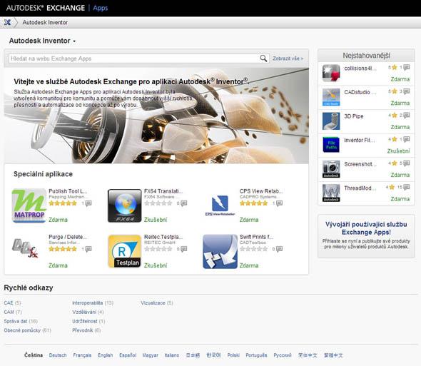 Autodesk Exchange Apps v češtině — srozumitelněji už to nejde.