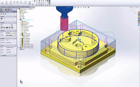 Pracovní prostředí Delcam for SolidWorks Xpress.