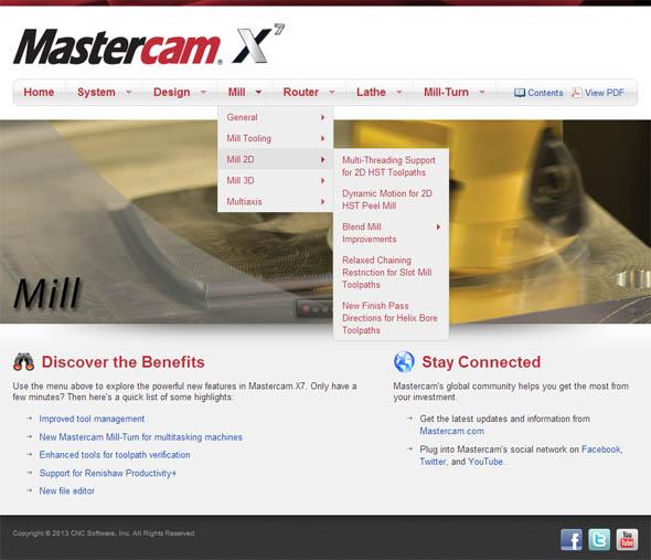 Na webu whatsnew.mastercam.com se můžete seznámit s novinkami s Mastercamu X7.