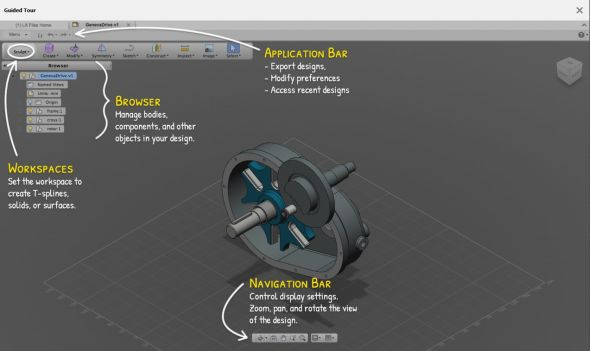 Jestliže jste zvyklí používat software od Autodesku, nebude pro vás prostředí Fusion 360 ničím neznámým.