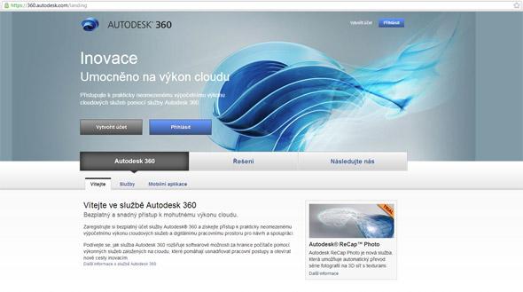 Přejděte na web https://360.autodesk.com