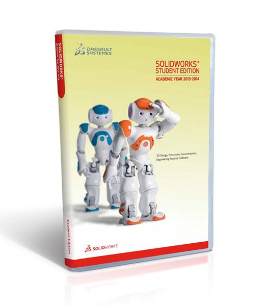 Z krabice studentské verze SolidWorksu letos kouká robot Nao...