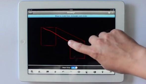 Skicování v mobilním AutoCADu 360 2.0 jde pěkně od ruky. Zdroj: Autodesk