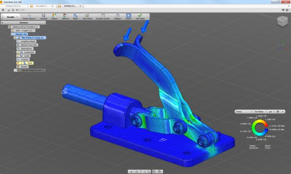 Cloudová aplikace pro mechanické analýzy Autodesk Sim 360. Zdroj: inthefold.typepad.com