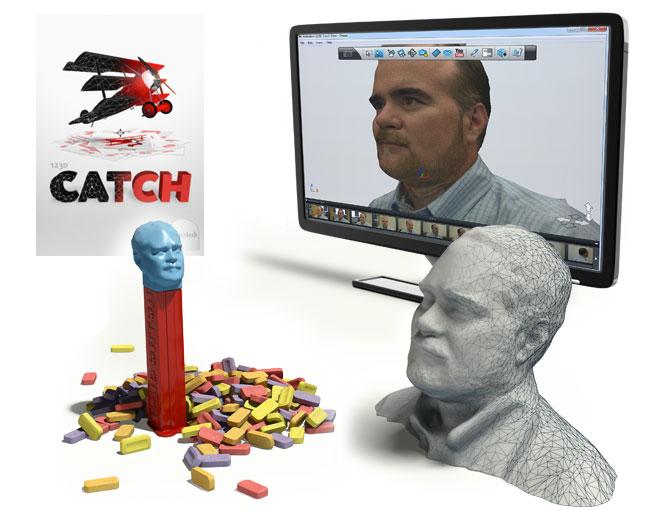 Co bylo dřív nemožné teď zvládnete raz dva, a to doslova - aplikace 123D Catch vám umožní například vytvořit vaši vlastní bystu. Nafotíte se ze všech stran mobilem, data zpracujete v počítači a pak je vytisknete na 3D tiskárně. Zdroj: Autodesk