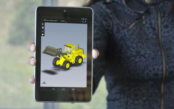 SolidWorks eDrawings na tabletu s operačním systémem Android. Foto: DS SolidWorks