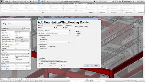 Autodesk Point Layout propojí CAD/BIM data s totální stanicí. Zdroj: Autodesk