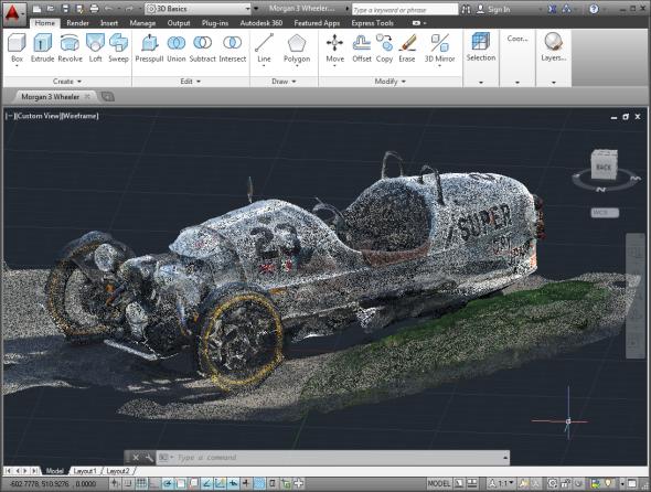 S pomocí aplikace Autodesk ReCap získáte ze série fotografií prostorový model zachyceného objektu. Zdroj: Kean Walmsley/Autodesk