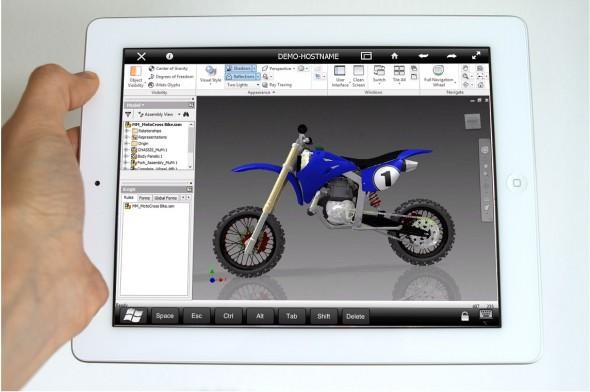 Díky Autodesk Remote spustíte na iPadu plnou verzi Autodesk Inventoru. Zdroj: Demir Ali/Autodesk