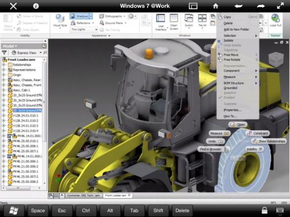 Přes Autodesk Remote můžete na iPadu svižně pracovat i s velkými sestavami. Zdroj: Autodesk