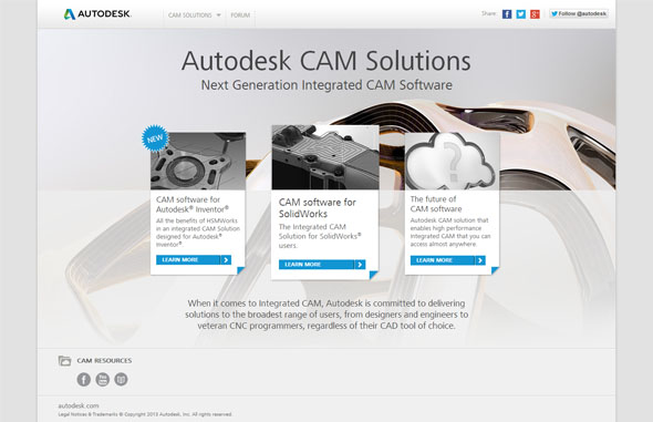 Web cam.autodesk.com odhalil koncem září CAM nabídku firmy Autodesk.
