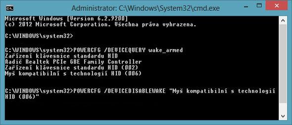 Zablokování vybraného zařízení proti ovlivňování hibernace.