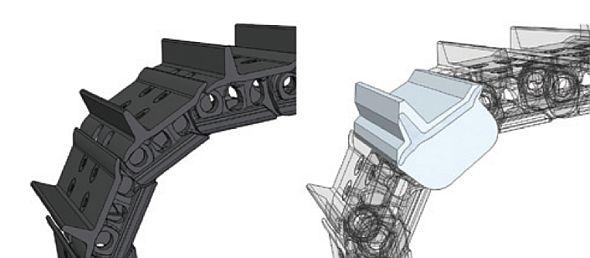 Výsledek funkce zjednodušení komponent sestavy v Solid Edge ST6. Zdroj: Siemens PLM Software