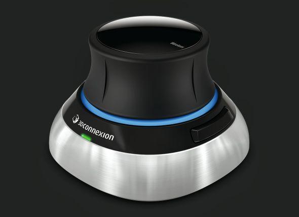 První bezdrátová 3D myš  se za design rozhodně stydět nemusí. Zdroj: 3Dconnexion