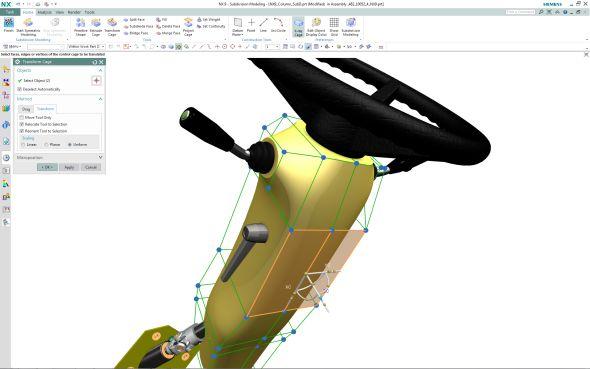 Nová technologie nazvaná Realize Shape pomůže s tvorbou a úpravami zakřivených ploch. Zdroj: Siemens PLM Software
