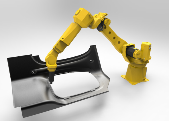 Vizualizace obrábění robotem. Zdroj: Sprut Technology