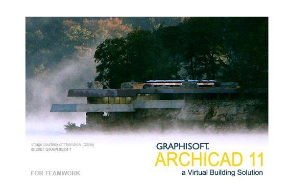 Massaro House (dnes již Pitt House), byl v roce 2007 hlavním marketingovým prvkem softwaru ArchiCAD 11. Zdroj: Graphisoft