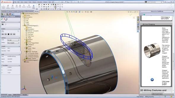 Strategie Vortex je jen jednou z několika novinek v systému Delcam for SolidWorks 2014. O dalších se můžete dočíst na webu Delcam.com. Zdroj: Delcam