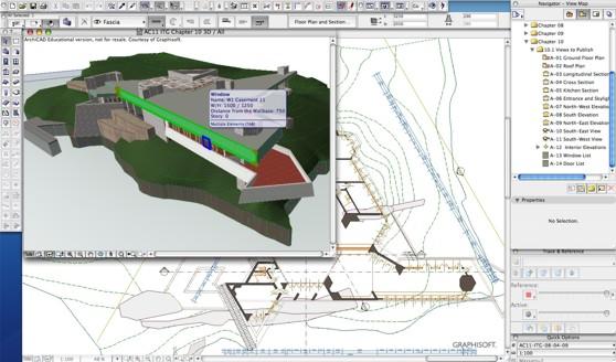 Detailní model celé virtuální budovy sloužil k prezentacím možností BIM softwaru. Zdroj: Graphisoft