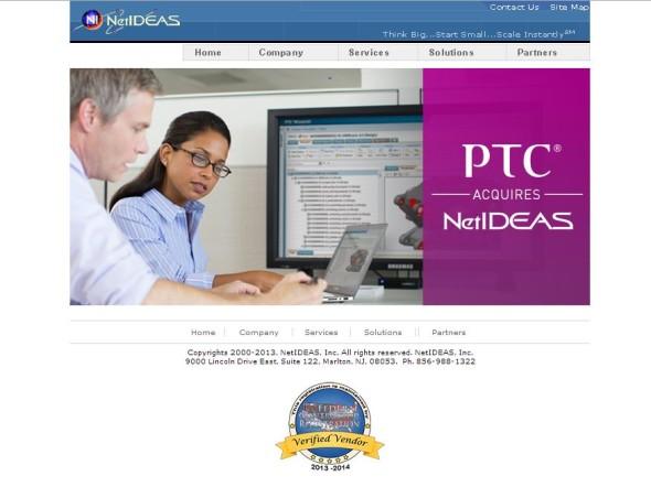 PTC letos úspěšně realizovala akvizice tří společností, mezi nimi i firmu Netideas, která byla mimochodem jedním z prvních uživatelů PLM systému Windchill. Zdroj: Netideas.com