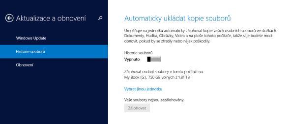 Výchozí možnosti zálohování Windows 8.1 vás zklamou.