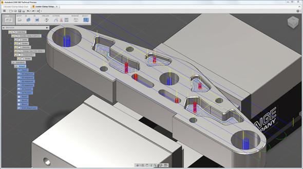 Autodesk CAM 360 staví na technologii HSMWorks. Zdroj: Autodesk