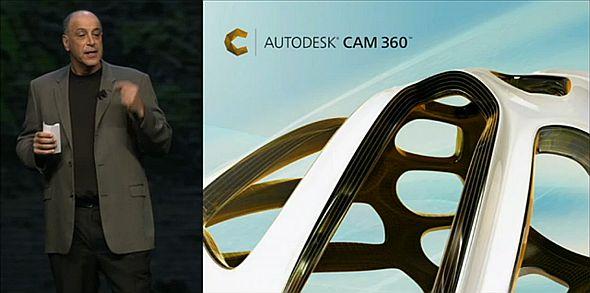 Prezident Autodesku Carl Bass představil 3. prosince v Las Vegas nový produkt Autodesk CAM 360. Zdroj: Autodesk