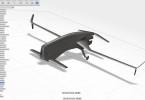 3D model dronu zkonstruovaného v cloudovém CAD softwaru Fusion 360. Další projekty jeho uživatelů můžete vidět na webu http://fusion360.autodesk.com/projects. Zdroj: Autodesk/Jordan Pelovitz