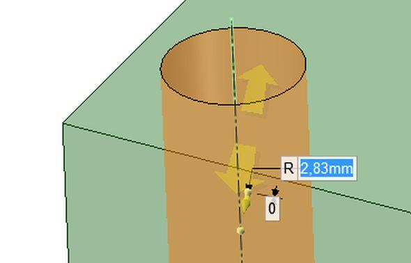 Podpora přímých úprav geometrie znamená rychlou práci s tělesy i při následných úpravách jejich tvaru a rozměrů.