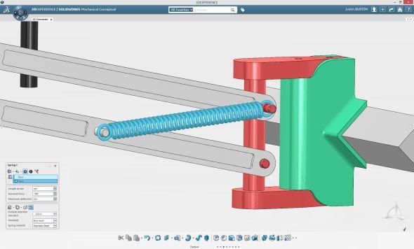 SolidWorks Mechanical Conceptual je, jako první z řady aplikací SolidWorks na platformě 3D Experience, určen zejména pro koncepční návrh mechanismů.