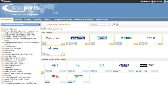 Na TracePartsOnline.net se dorozumíte i česky.