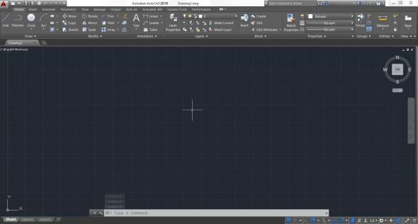 Pracovní prostředí systému AutoCAD 2015. Zdroj: Autodesk