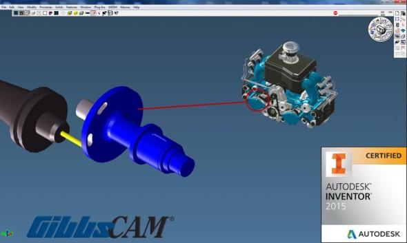 GibbsCAM získal certifikaci pro spolupráci se systémem Autodesk Inventor 2015. Zdroj: Gibbs and Associates