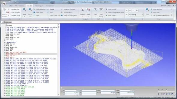 Obráběcí program můžete ručně upravit v dodávaném CNC editoru. Zdroj: Autodesk