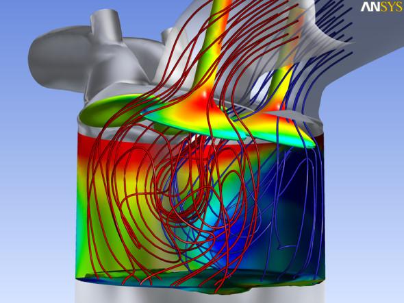 Ukázka vizualizované simulace v systému Ansys Fluent. Zdroj: Ansys