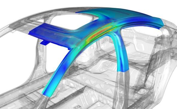 Simulace MKP v prostředí NX. Zdroj: Siemens PLM Software