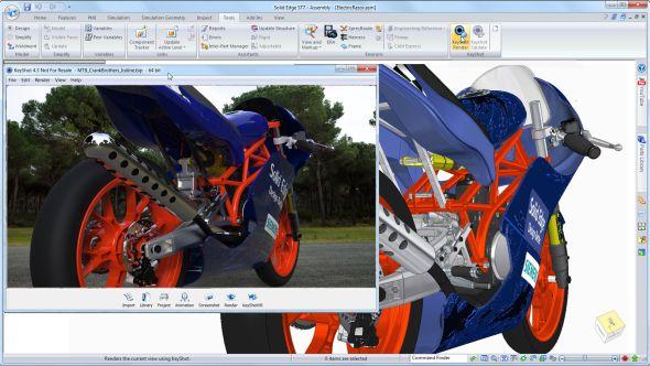 Solid Edge ST7 doprovází rychlá renderovací aplikace KeyShot. Zdroj: Siemens PLM Software