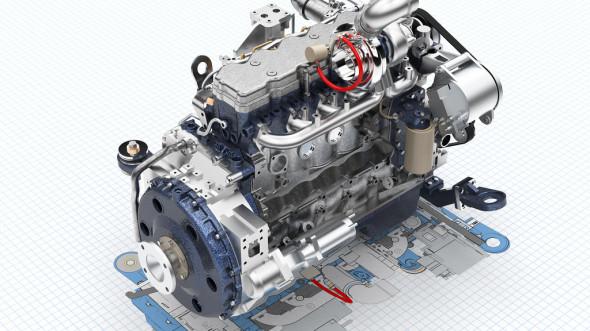Fotorealistická vizualizace motoru v Solid Edge ST7. Zdroj: Siemens PLM Software