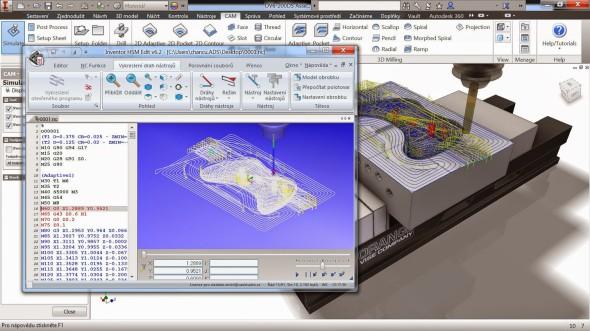 Pracovní prostředí CAM softwaru Autodesk Inventor HSM je kompletně počeštěno. Zdroj: CAD Studio