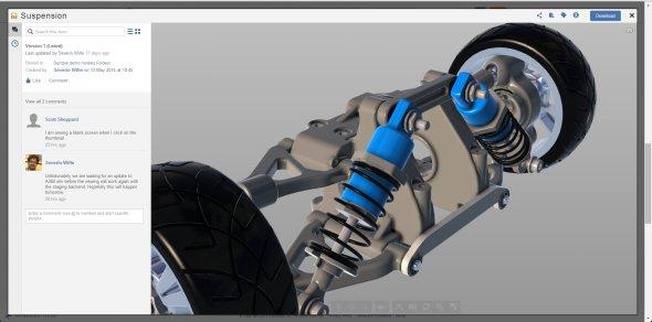 Grafické zobrazení 3D modelů ve službě Autodesk 360 je velmi slušné.